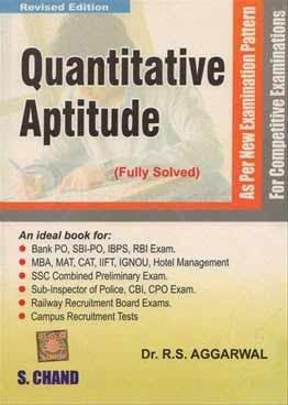 Quantitative Aptitude By R S Aggarwal Pdf Edutechlearners